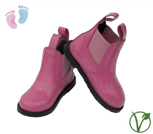 Rhinegold Little Ones Synthetic Jodhpur Boot in Pink